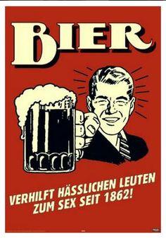 Bier, Verhilft Haesslichen Leuten Zum Sex Zeit 1862!