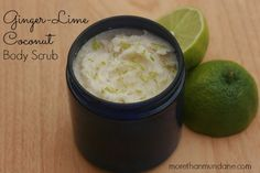 Dreaming of an island get-away? This ginger-lime coconut body scrub will leave your skin feeling soft & refreshed.