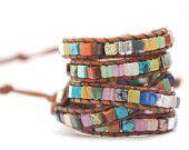 Surprise wrap leather bracelet.