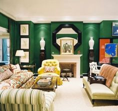 Love the emerald walls