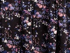 Mixed Floral Woven Rayon Fabric