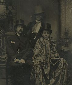 #Antique victorian american top hats rug trio young men #clowning #tintype photo ,  View more on the LINK: http://www.zeppy.io/product/gb/2/140928606424/