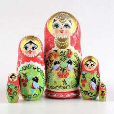Birds & Berries Stacking Doll | Nesting dolls | The Russian Store