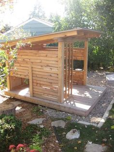 Playhouse - nice and simple, plenty of room for the imagination, and I can see it being easily transformed into a teenage hang/getaway when your kids grow up.