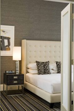 Designers Goodman & Charlton featured Manila Hemp 3440 Elephant in Luxury Suite at the Marcel Hotel, New York City, New York.