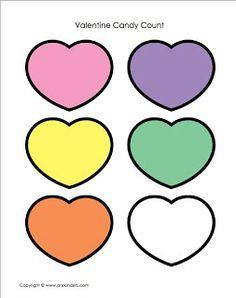 Preschool Activities: Valentine's Day Candy Heart Math