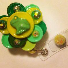 Frog Prince Flip Top Retractable ID Badge Reel on Etsy, $14.50