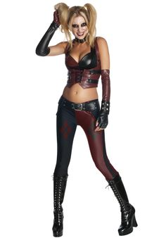 Batman Harley Quinn Costume, Halloween Fancy Dress - Superhero Costumes at Escapade™ UK - Escapade Fancy Dress on Twitter: @Escapade_UK
