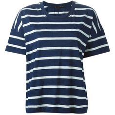 Rag & Bone /Jean striped T-shirt (155 AUD) ❤ liked on Polyvore featuring tops, t-shirts, shirts, blue, stripe shirt, striped tee, blue striped t shirt, cotton shirts and t shirts