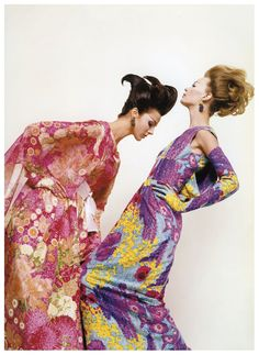Tilly Tizzani and Nena von Schlebrugge, Harper's Bazaar, 1962. Photo by Melvin Sokolsky.