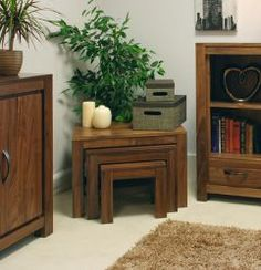 Mayan Walnut Nest of 3 Coffee Tables will make your room impressive and elegant. More info: http://solidwoodfurniture.co/product-details-pine-furnitures-2978-mayan-walnut-nest-of-coffee-tables.html