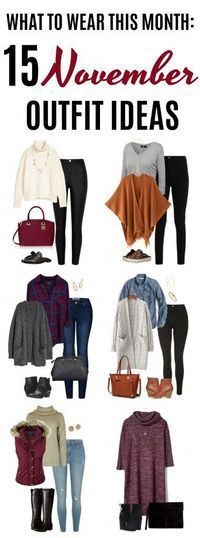 Welcome to the November edition of What to Wear This Month! You'll fund 15 November outfit ideas perfect for your fall and winter fashion needs. Any of these would work great for your Thanksgiving outfit, whether you need to dress up or go casual. Click o #casualwinteroutfit