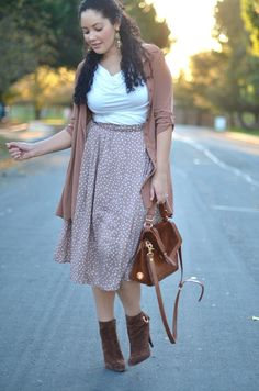 Monochromatic outfit with ankle boots -beige color tones-great daytime look and so chic!!