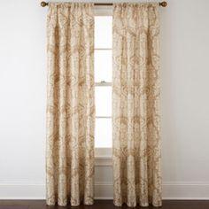 Royal Velvet® Camden Rod-Pocket Curtain Panel - JCPenney (Sandshell Multi)