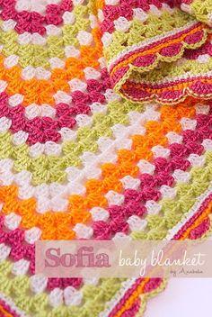 Sofia crochet baby blanket by patrice