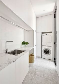34 ideas for bath room design small white laundry rooms Modern Laundry Rooms, Laundry In Bathroom, Laundry In Kitchen, Ikea Laundry, Laundry Cupboard, Laundry Cabinets, Zen Bathroom, Basement Laundry, Bathroom Modern
