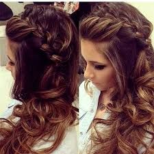 Side braided hair with curls   Hair styling   Pinterest   Braid hair ...