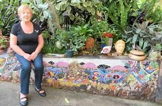 PAVING THE WAY: Gwen Smithers, Gympie mosaic artist, shows some of her  mosaic