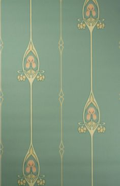 art nouveau wallpaper for sale - Google Search