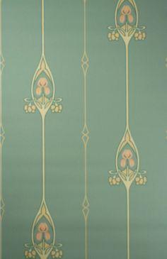 art nouveau wallpaper for sale - Google Search