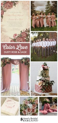 Wedding Color Love: Dusty Rose and Sage