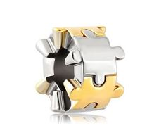 Autism Awareness Bead Autism Puzzle Piece Charm by TheCharmedBead