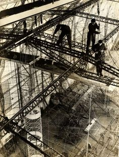 Blast from the past (unfortunately, literally): Building the Hindenburg.