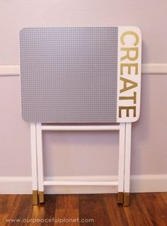 portable diy lego table, painted furniture