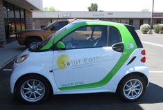 Smart Car Wrap for Solar Path. #vehiclewrap #smartcar #vehiclegraphics #vehicledecals