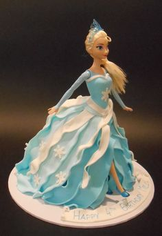Elsa Dolly Varden Birthday Cake - by Nada's Cakes Canberra