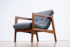 Restored Duo Tone Mid-Century Modern Scoop Chair 4