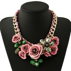 Find More Pendant Necklaces Information about 6 Colors Newest Design Hot Sales Popular Crystal Multicolor Statement Choker Big Flower Necklace Women Y005,High Quality jewelry protectant,China jewelry clay Suppliers, Cheap jewelry closet from Phoenix Fashion Jewelry on Aliexpress.com