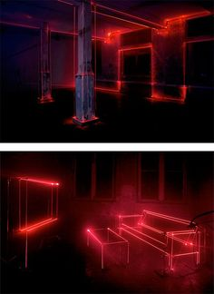 Speed of Light: Art Installation by United Visual Artists | Inspiration Grid | Design Inspiration Light Art Installation, Interactive Installation, Art Installations, Neon Lighting, Lighting Design, Unique Lighting, Luxury Lighting, Lighting Ideas, United Visual Artists