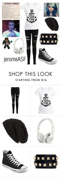 """DAY 7 jeromeASF"" by teal-lerker ❤ liked on Polyvore featuring Miss Selfridge, David & Young, Converse and Valentino"