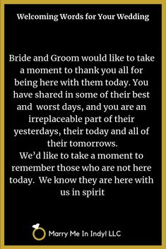 Welcoming Words for your wedding ceremony script. Welcoming Words for your wedding ceremony script. Wedding Ceremony Readings, Wedding Ceremony Script, Wedding Poems, Wedding Wishes, Wedding Tips, Our Wedding, Wedding Planning, Examples Of Wedding Vows, Non Religious Wedding Ceremony