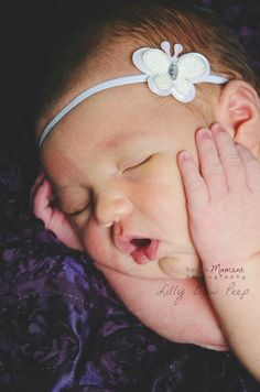 15 Blanco mariposa diademaBaby Girlrecién nacido por LillyBowPeep