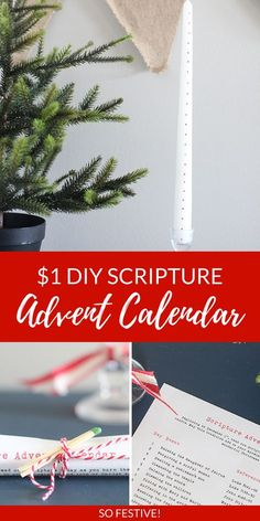 Cheap Christmas Gift Idea- Scripture Advent Candle