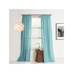 No918 Hendricks Curtain, Light Blue