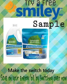 Try Seventh Generation Energy Smart and get cleaner dishes and save on your monthly bill..Join Smiley360 and try a free complimentary sample and let your dishes spin with Energy Smart!