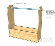 directions for dress up clothes rack