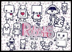 Cute Robot Drawing | OH MAI GOD, CUTE ROBOTS, YAY by Fantasy-and-Fiction