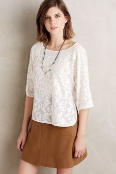 Paper Crown Claribel Lace Blouse   25% off w/ code SHOPTOIT   #anthrofave