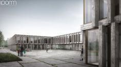 Boegli Kramp Architekten - Meyrin - Schule mit Tagesstruktur Les Vergers https://www.loomn.de/3d/2014/03/140317-Visualisierung-FHV-Architectes-Lausanne-Fruehauf-Henry-Viladoms-Lausanne-ADR-Wettbewerb-Operation-Vernets-Caserne-Quai-Arve-Fluss.jpg