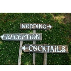 Wooden wedding signs from etsy