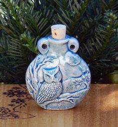 WANT!!!White Magick Alchemy - Ceramic Bottle . Owl, $14.95 (http://www.whitemagickalchemy.com/ceramic-bottle-owl/)