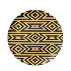 Yellow/Orange Tribal Party Plates