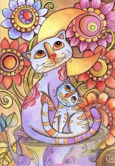Cats Art Print by Lidia Gennari | Society6