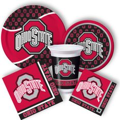 Ohio State Party Supplies from www.DiscountPartySupplies.com