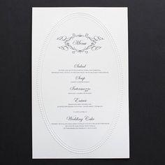 Elegant Monogram Free Printable Wedding Invitations Menu TemplateFree