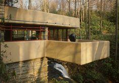 Falling Water House Built Near Waterfalls By Frank Lloyd Wright Jr